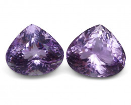 29.8 ct Pair Pear Kunzite