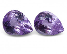 41.12 ct Pair Pear Kunzite