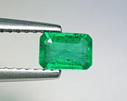 """0.88 ct  """" Amazing Gem  """" Fantastic Octagon Cut Natural Emerald"""