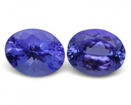 5.64 ct Pair Oval Tanzanite