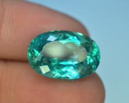 13.45 Ct Green Spodumene Gemstone From Afghanistan T