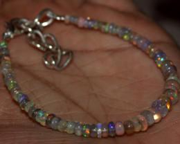 14 Crt Natural Ethiopian Welo Fire Opal Beads Bracelet 7