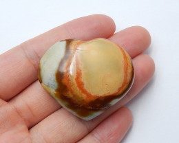 140cts Ocean jasper Heart , Healing Gemstone Heart side drill(A808)