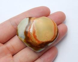 140cts Ocean jasper Heart , Healing Gemstone Heart side drill(A808)