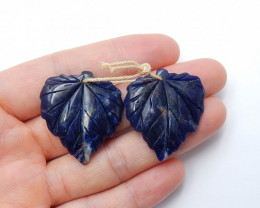 40cts Blue sodalite gemstone earring pairs , natural  earthy jewelry A820