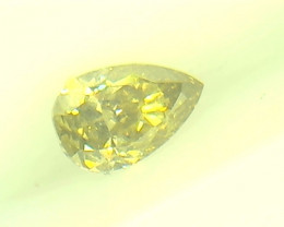 0.205ct  Fancy Intense Yellow Green Diamond , 100% Natural Untreated
