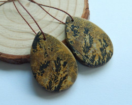 34.5cts Chohua jasper earrings ,gemstone earrings ,healing stoneA850