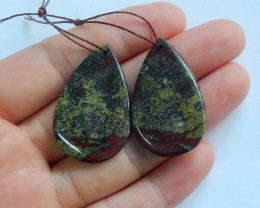 Dragon blood gemstone earrings ,stone earrings ,healing stone A851