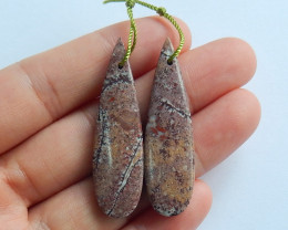 Natural chohua Jasper earrings ,gemstone earrings ,healing stone A862