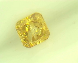 0.23ct Fancy Intense brownish Yellow   Diamond , 100% Natural Untreated
