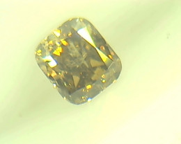 0.25ct  Fancy Intense Green Brown Diamond , 100% Natural Untreated