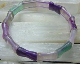 Fluorite Stone  cuts Bracelet 10 MM