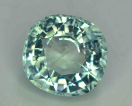 GSGC  Certified 7.46 Carats Natural  Light Blue Aquamarine Gemstones