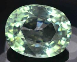 GSGC Certified 8.15 Carats Natural Green Blue Color  Aquamarine Gemstones