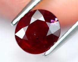 1.82Ct Natural Burmese Vivid Pigeon Blood Red Ruby Heated Only E0901