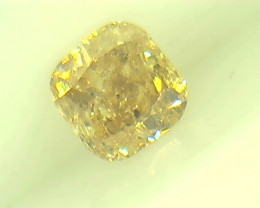0.30ct Fancy Light brownish Yellow  Diamond , 100% Natural Untreated