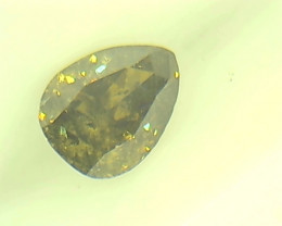 0.26ct  Fancy Deep Brown Green Diamond , 100% Natural Untreated