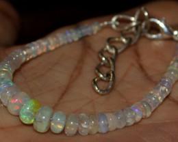 19 Crt Natural Ethiopian Welo Fire Opal Beads Bracelet 12