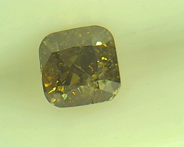 0.265ct Fancy Deep Brown Green  Diamond , 100% Natural Untreated
