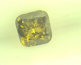 0.25ct Fancy Deep Green Brown  Diamond , 100% Natural Untreated