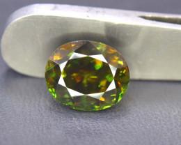 5.90 cts Natural Full Fire Chrome Sphene Titanite Gemstone