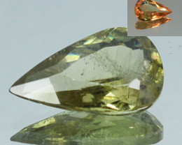 ~RARE~ 2.53 Cts Natural Color Change Diaspore Pear Cut Turkey