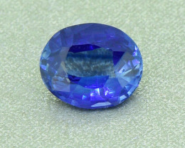 Unheated Natural Ceylon Cornflower Blue Sapphire 0.70 ct (01266)