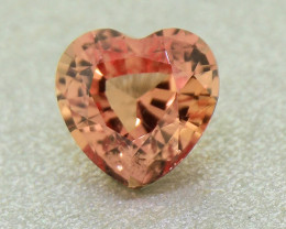 Unheated Padparadscha Sapphire .47 Ct Amazing Heart Well Cut (01355)