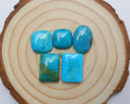 24.5cts 1 set natural turquoise cabochon beads semi-gem A883