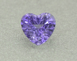 Unheated Violet Sapphire .35 Ct Amazing Heart Well Cut (01356)