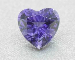 Unheated Purple Sapphire .48 Ct Heart Well Cut (01357)