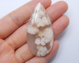 gemstone cabochon,healing crystal, cherry blossom agate,january birthstone