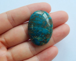 AAA Quality Peruvian Blue Opal Cabochon Bright Blue Bead Wholesale A897