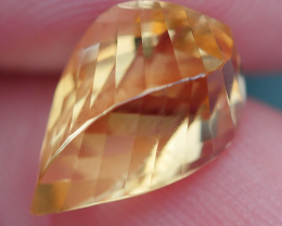 2.75 CRT BEAUTY YELLOW CITRINE SWISTER CARVING-