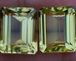 12.00 CRT BEAUTY AFRICAN PAIR LEMON QUARTZ-