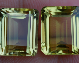12.60 CRT BEAUTY AFRICAN PAIR LEMON QUARTZ-