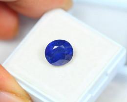 3.77Ct Blue Sapphire Composite Oval Cut Lot E19
