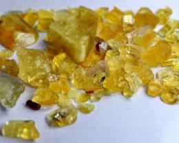 98.10 CT Natural & Beautiful Yellow Heliodor Beryl Rough Lot