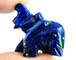 Genuine 28.00 Cts Sodalite Carved Elephant
