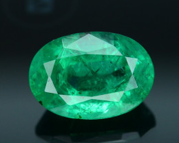 AIG Certified Top Color 1.85 ct Zambian Emerald SKU-28