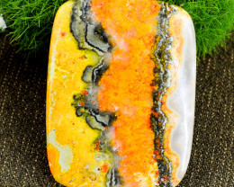 Genuine 111.00 Cts Bumble Bee Jasper Untreated Cabochon