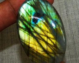Genuine 79.00 Cts Golden & Green Labradorite Gemstone