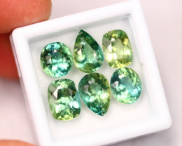 11.06Ct Natural Color Change Green Apatite Mixed Size Lot ~ A1011