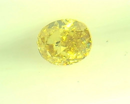 0.145ct Fancy Intense brownish greenish Yellow  Diamond , 100% Natural Untr