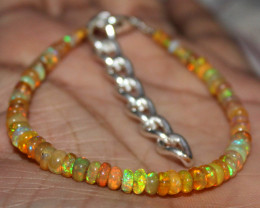 21 Crt Natural Ethiopian Welo Fire Opal Beads Bracelet 4