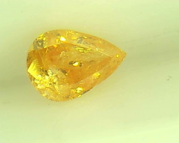 0.23ct Fancy Vivid Yellow Orange  Diamond , 100% Natural Untreated