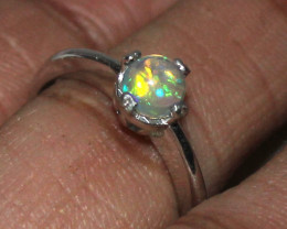Natural Ethiopian Welo Fire Opal 925 Silver Ring Size ( 7 US) 94