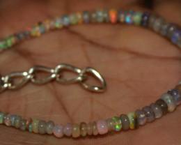 15 Crt Natural Ethiopian Welo Fire Opal Beads Bracelet 19