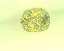 0.235ct Fancy Intense yellowish Green   Diamond , 100% Natural Untreated