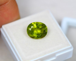 4.24ct Green Peridot Oval Cut Lot GW2995